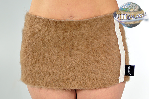 Elastic warming belt with camel wool