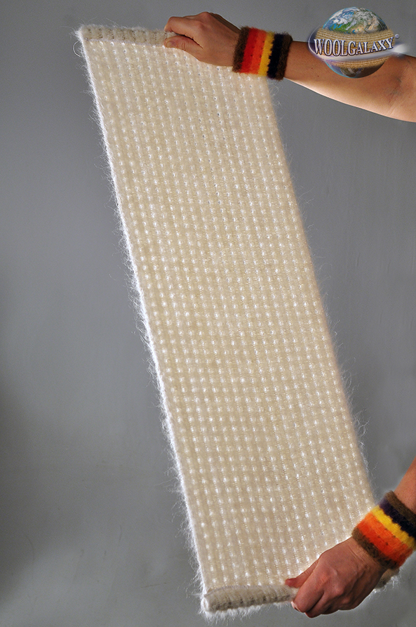 "Elastic perforated fabric containing alpaca wool, ""FANTASTIC"" Collection"