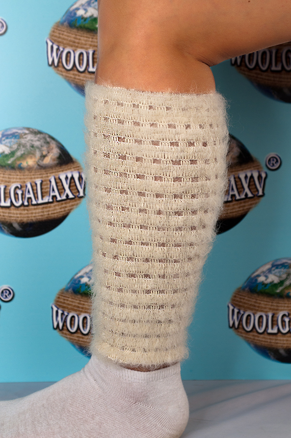 "Elastic perforated bandage for the shin containing alpaca wool, ""FANTASTIC"" Collection"